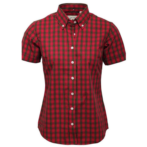 Ladies Red Tartan check shirt