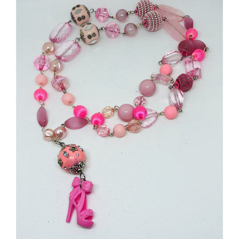 Barbie inspired beaded necklace