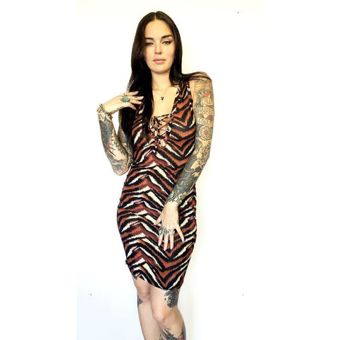 Zebra Tied Up Dress