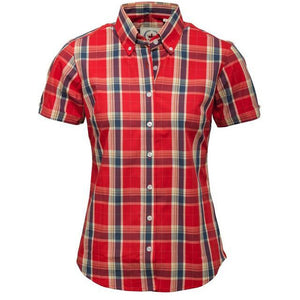 Ladies Burnt Orange check shirt
