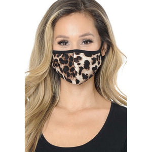 Leopard Face Mask Brown