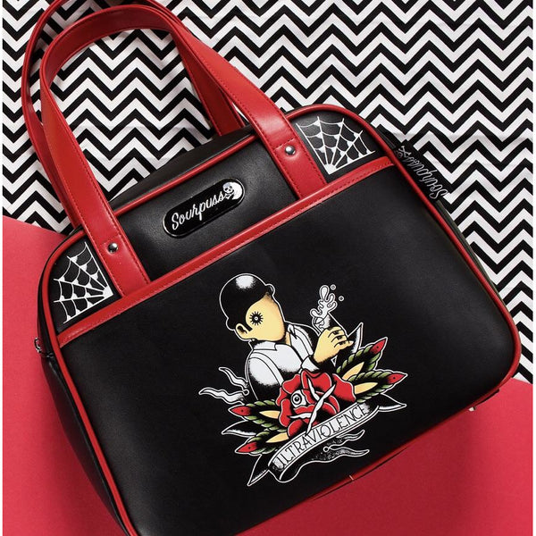 SOURPUSS ULTRAVIOLENCE BOWLER PURSE