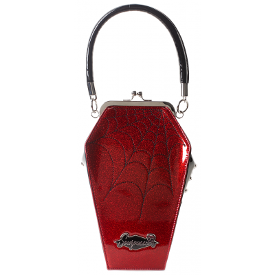 COFFIN SPARKLE PURSE RED