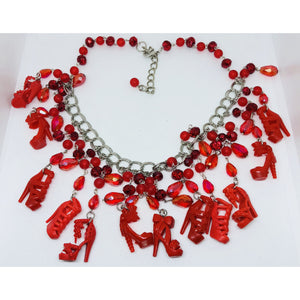 Red Barbie inspired necklace