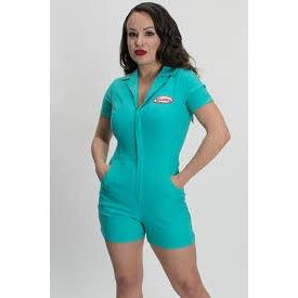 Bettie Page Romper-Spearmint