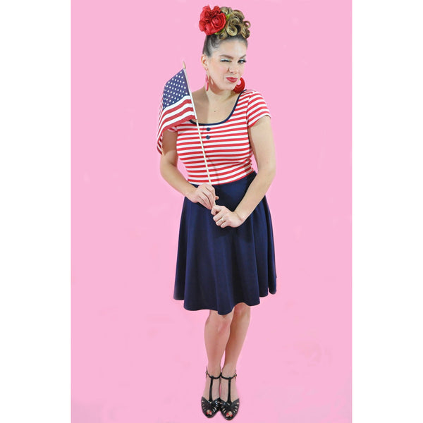 Sailor Skater Dress S-3X