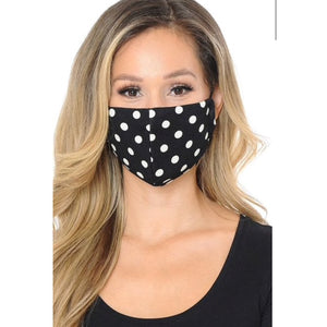 Black Polka Dot Face Mask