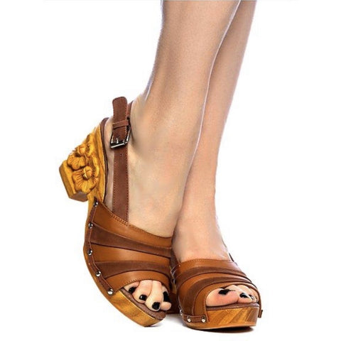 Daisy Jane Slingback - Brown Suede and Leather Strap