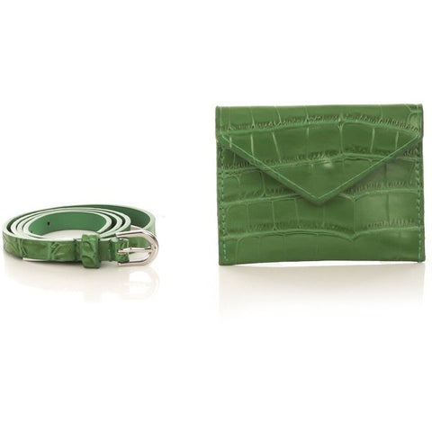 Green wallet belt combo