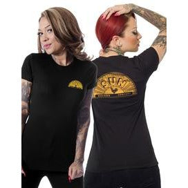 Sun Records Sun Record Shop Tee in Black
