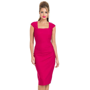 Lillian Hot Pink Pencil Dress