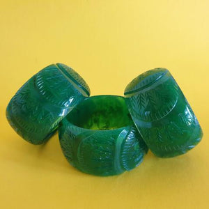 Chunky Carved Cactus bangle