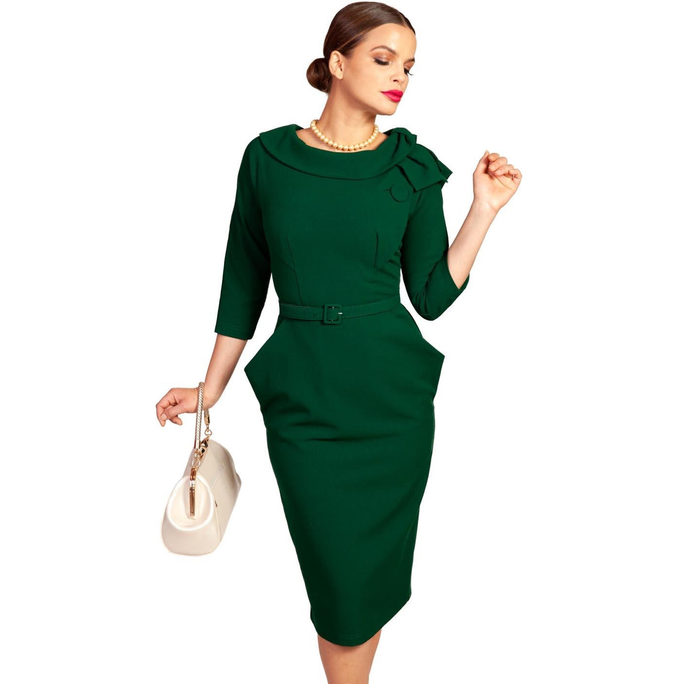 Grace & Glam Evita Dress Green