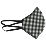 Face mask black gingham