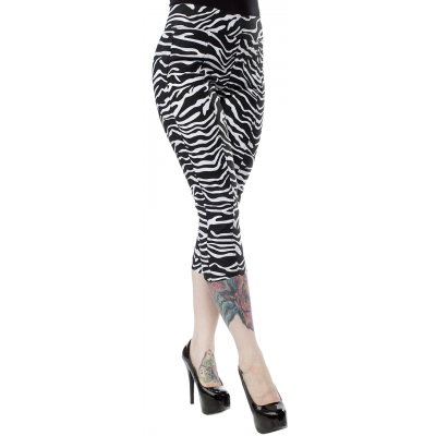 SOURPUSS ZEBRA SUGAR PIE CAPRIS WHITE