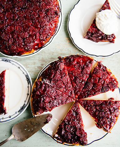 Upside Down Prairie Cherry Cake