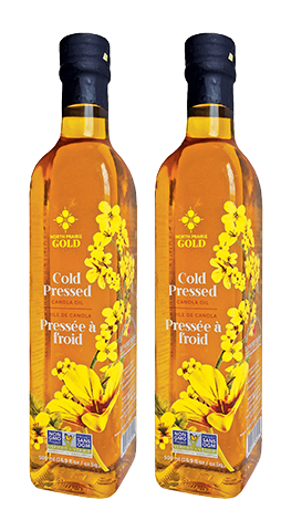 North Prairie Gold Cold Press Canola Oil Twin-pack (500ml each)