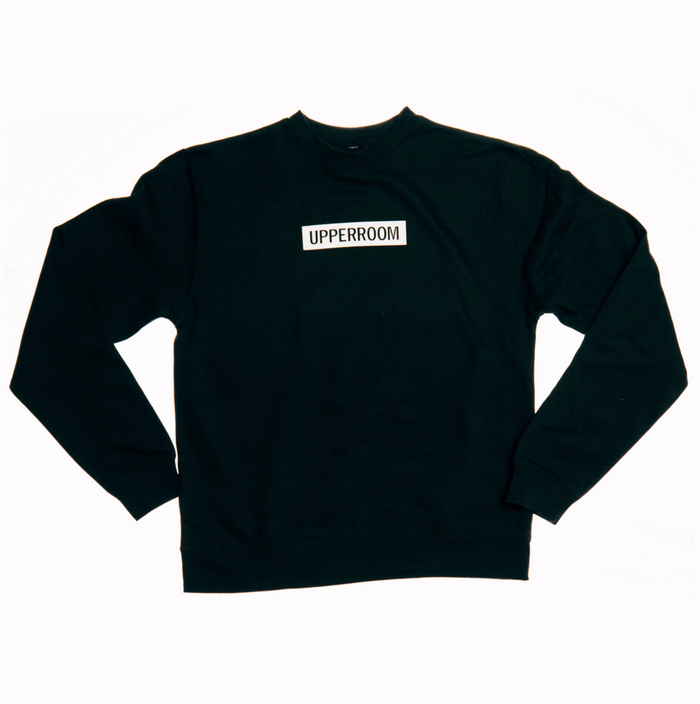 Box Logo Black Crewneck