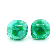 Amy Christie - Green Glass Studs