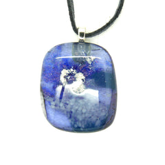 Indigo Blue Glass Pendant