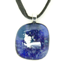 Small Indigo Blue Glass Pendant