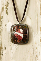 Mocha Fused Glass Pendant