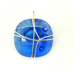 Blue Small wire Wrapped Pendant