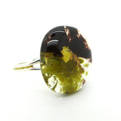 Amy Christie - Sage Glass Ring