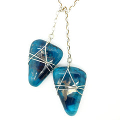 Amy Christie - Teal Glass Lariat Necklace
