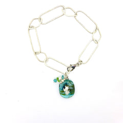Amy Christie - Turquoise Glass Bracelet