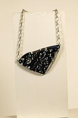 Black Fused Glass Necklace