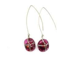Coral Glass Earrings