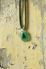 Green & Jade Small Tone Fused Glass Pendant