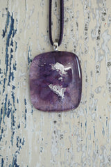 Lilac Plain Fused Glass Pendant