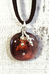 Brown Cluster Pendant