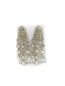 Gold Diamante Stud Earrings