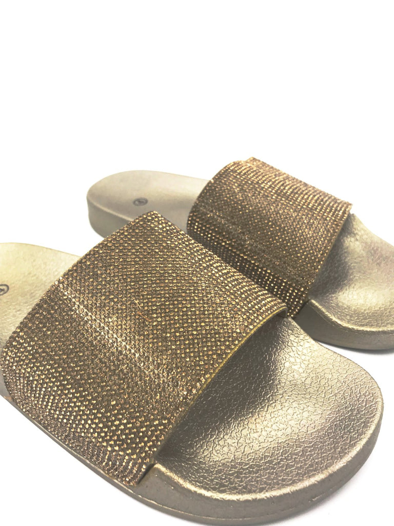 Gold Diamante Sliders