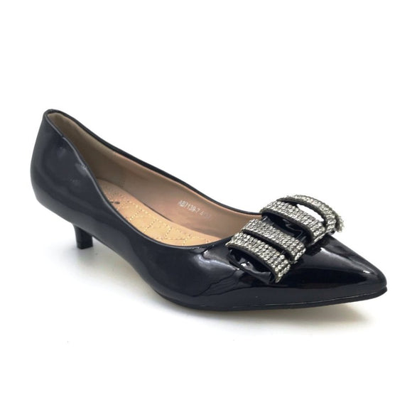Black Patent Pointy Flats
