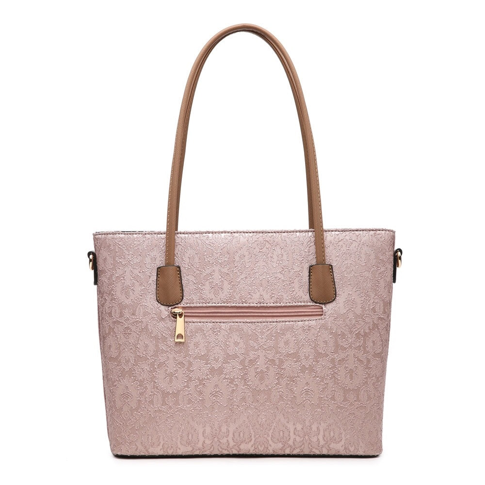 Large Pink Laced Handbag