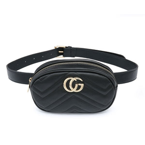 Black Gucci Style Bumbag