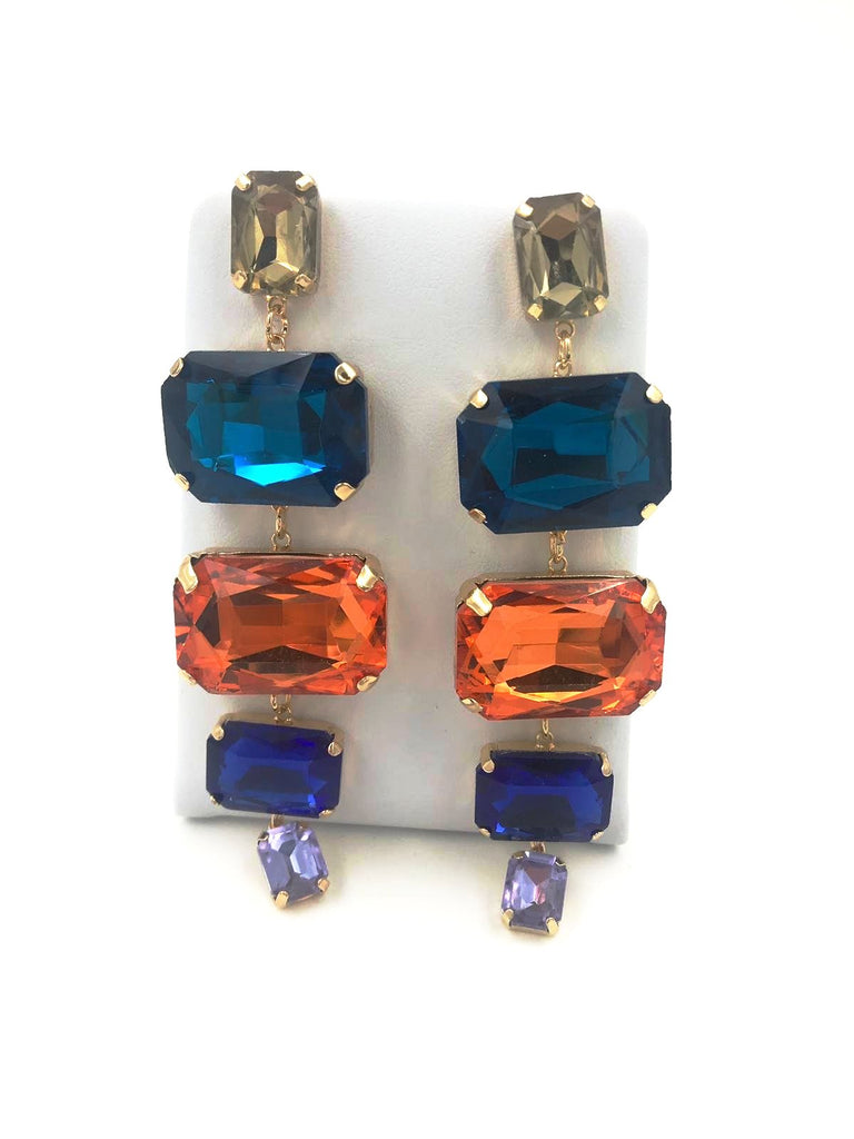 Coloured Diamond Stud Earrings