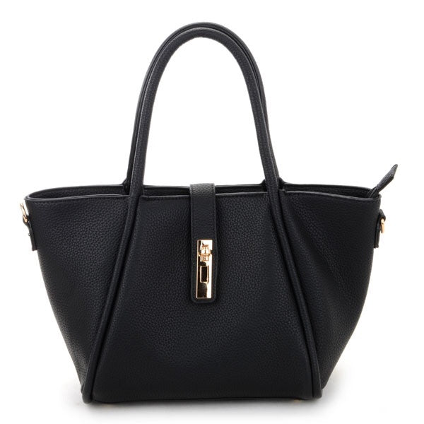 Black Gold Lock Handbag