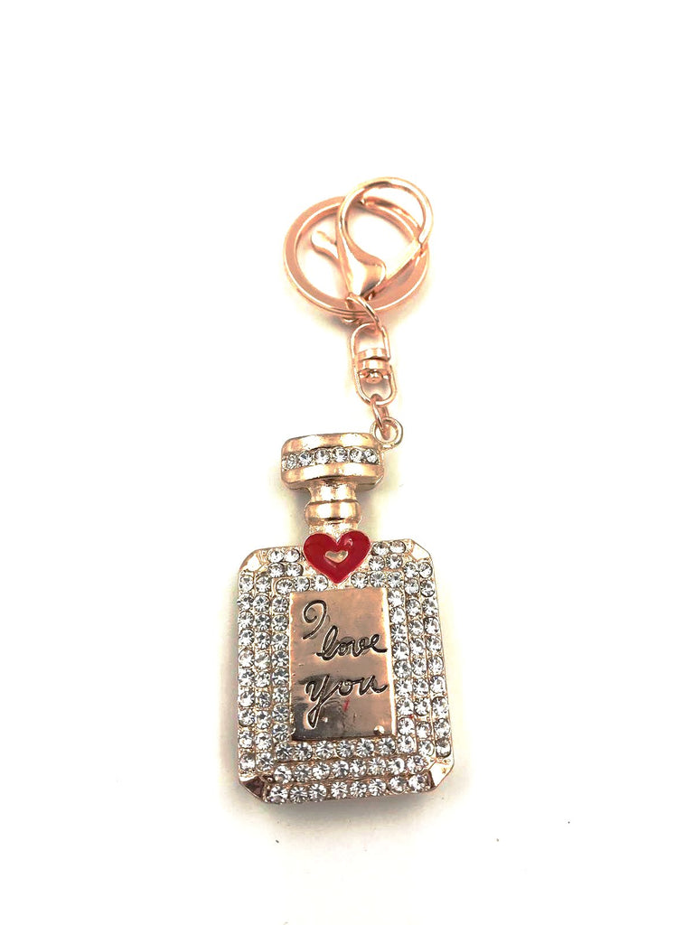 Perfume Bottle Keyring