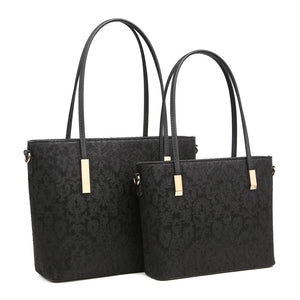 Small Black Laced Handbag
