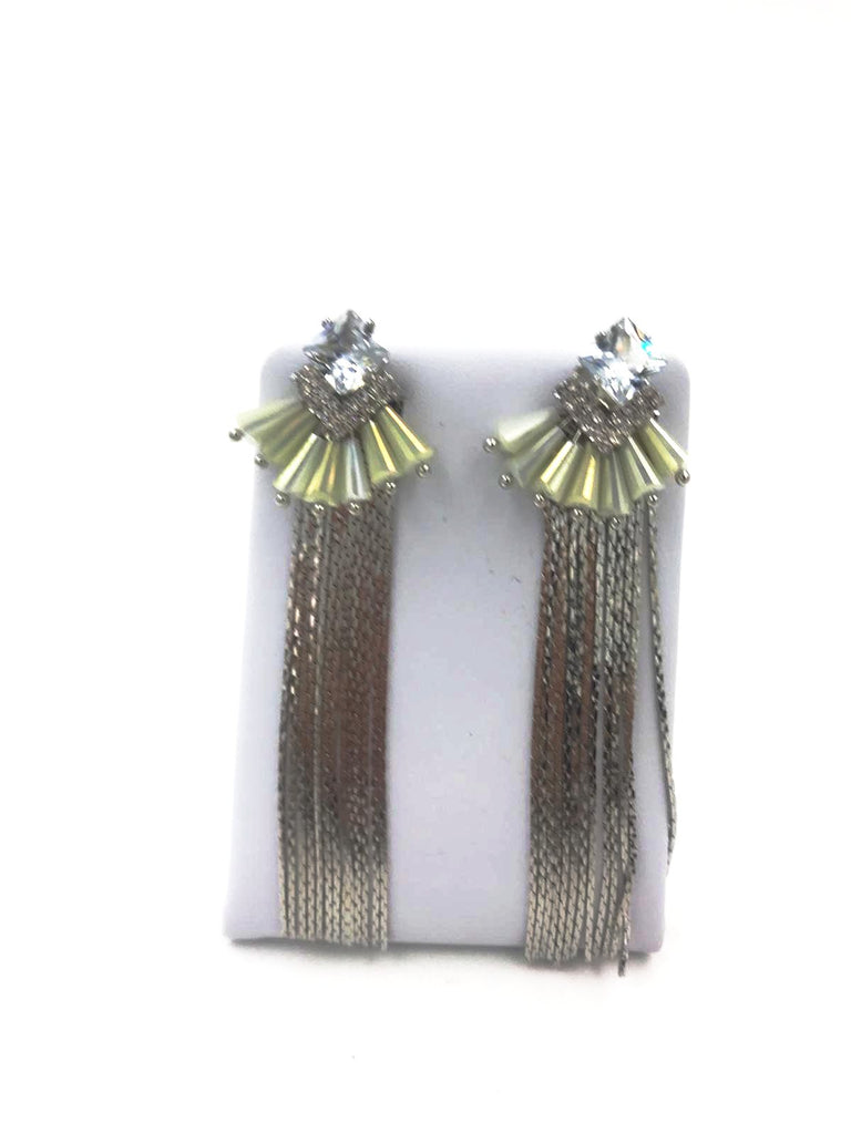 Silver Diamante Earrings