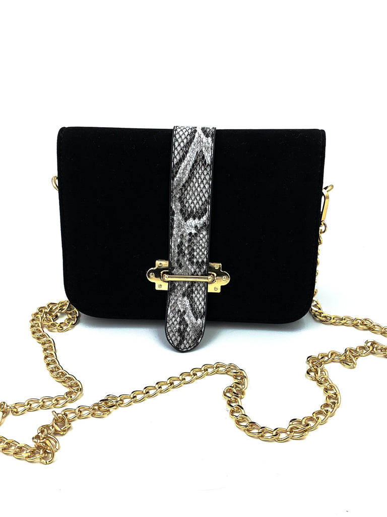 Black Belt Clutch Bag