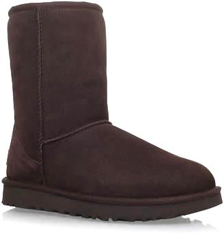 Brown Fur Ugg Style Short Boots