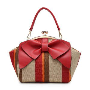 Red Bow Clutch Bag