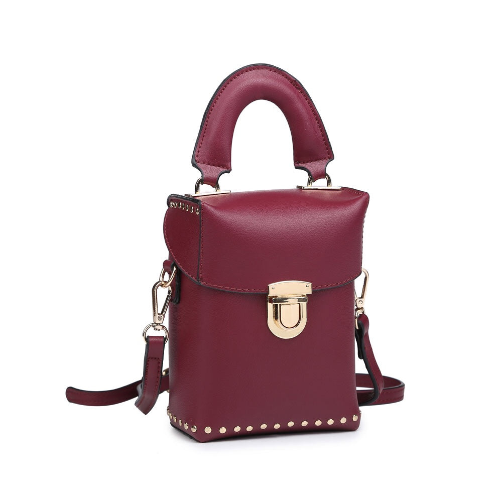 Burgundy Pouch Bag