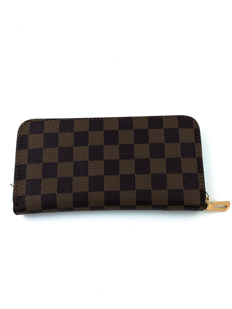 Louis Vuitton Style Brown Purse